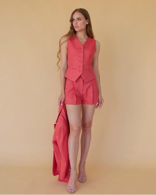 Терракотово-красные шорты