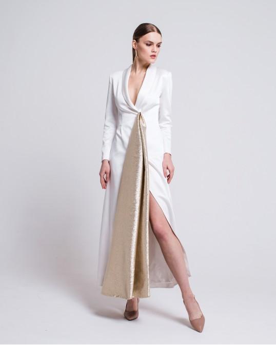 Белое платье - смокинг