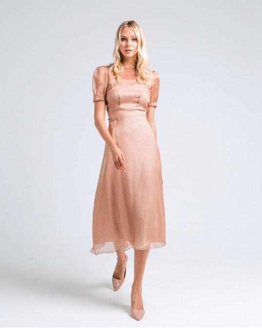 Платье миди из шелка-органзы