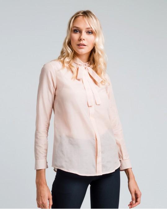 Прямая рубашка из легкого батиста с шелком