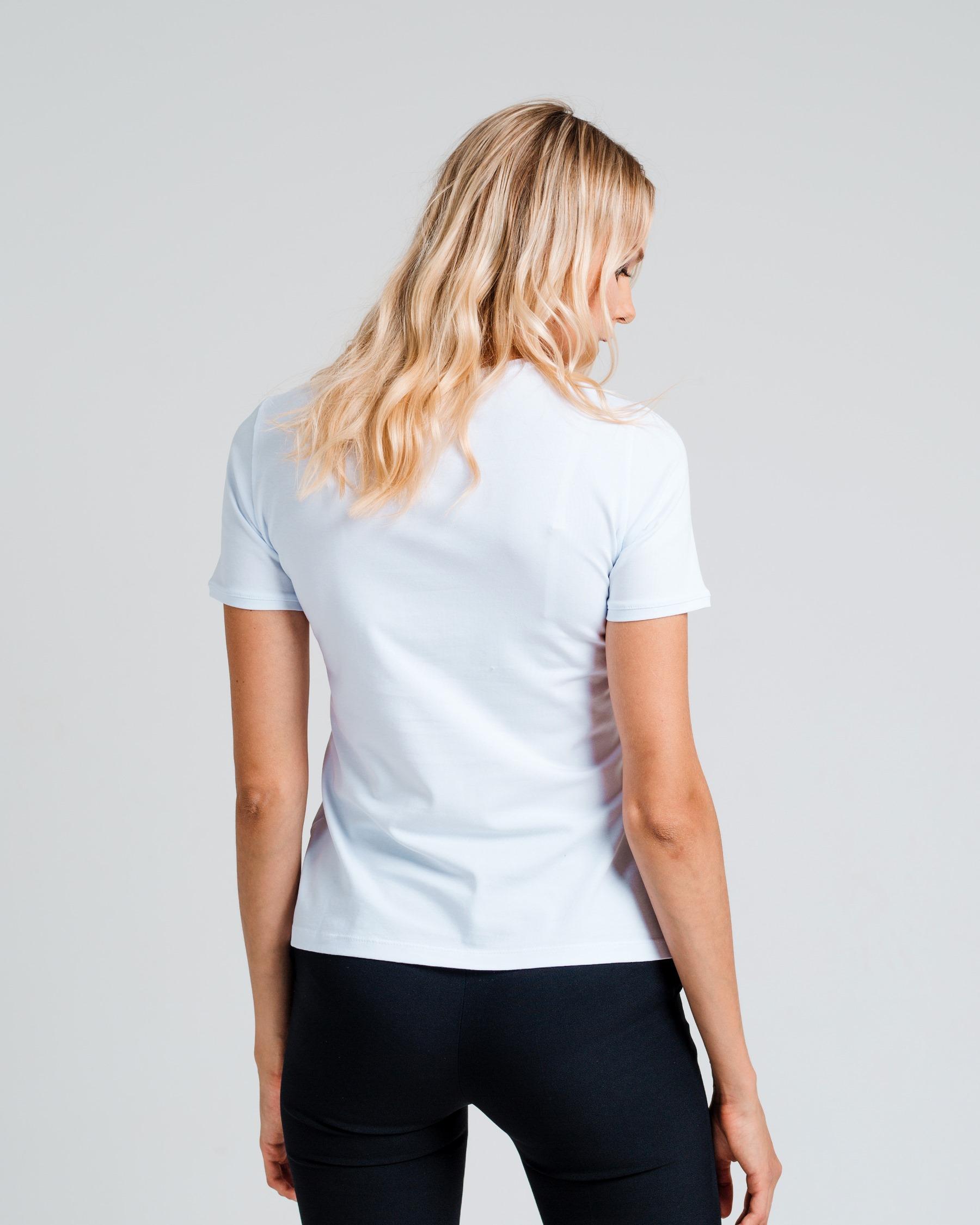 Узкая футболка с вышивкой Цветок