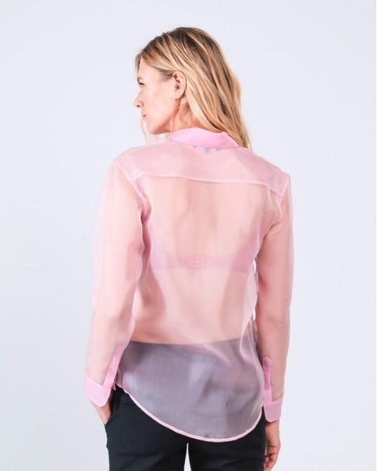 Прозрачная рубашка из органзы