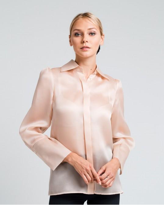 Прямая рубашка из плотной органзы