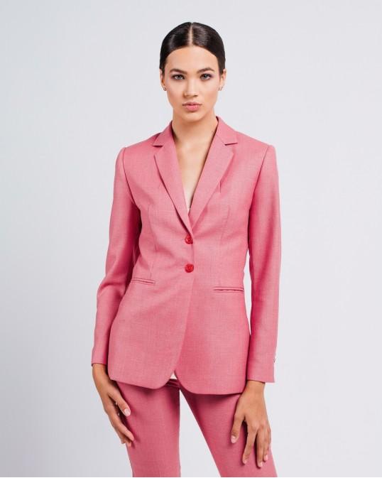 Розовый жакет из тонкой костюмной шерсти Montecarlo